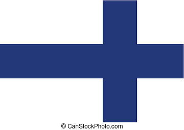 180 Degree Rotated Flag of  Finland