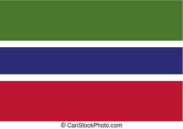 180 Degree Rotated Flag of  Gambia