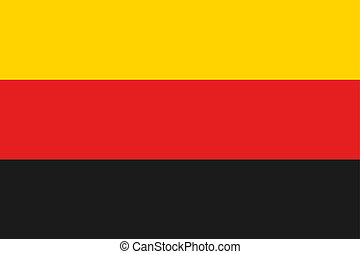 180 Degree Rotated Flag of  Germany