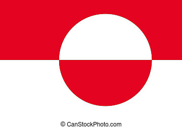 180 Degree Rotated Flag of  Greenland