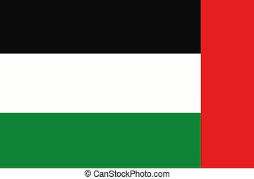 180 Degree Rotated Flag of  United Arab Emirates