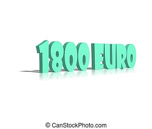1800 euro 3d word