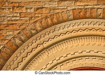 1800s Church Doorway Arch Detail