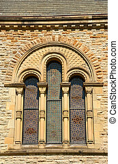 1800s Historic Church Stained Glass Window