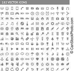 182, pictograms, セット, アイコン