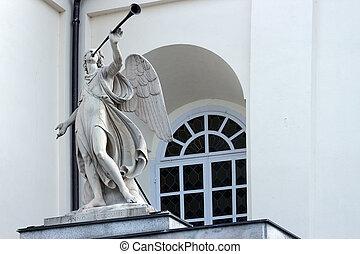 1854, anjo, trompetista