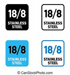 """18/8 stainless steel"" food grade corrosion resistant inox"