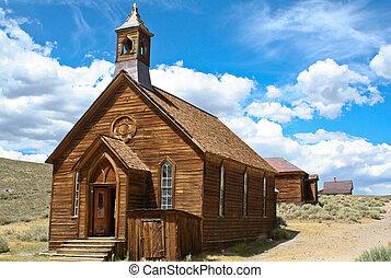 1880, pueblo fantasma, iglesia