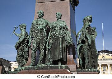 (1894), helsinki, senado, ii, monumento, cuadrado, alexander