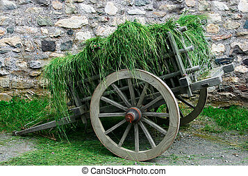 This is an 18th century small hay cart