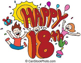 18th, feliz