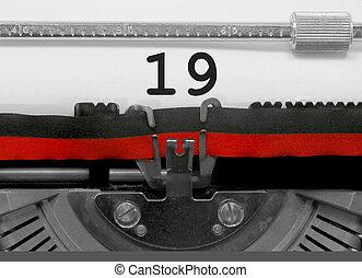 19, 古い, 数, タイプライター