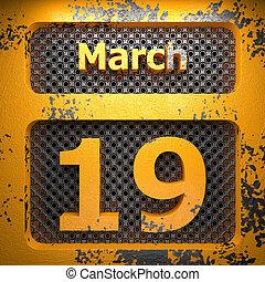 19, acciaio, marzo, dipinto