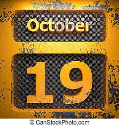 19, acciaio, ottobre, dipinto