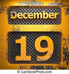 19, dipinto, acciaio, dicembre