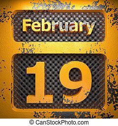 19, dipinto, acciaio, febbraio