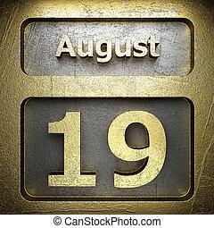 19, dorato, agosto, segno