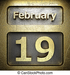 19, dorato, febbraio, segno