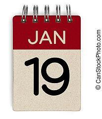 19 jan calendar