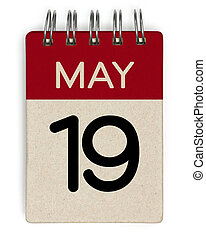 19, mei, kalender