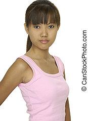 19, modello, asiatico
