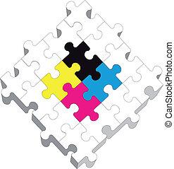 19, puzzle, 3d