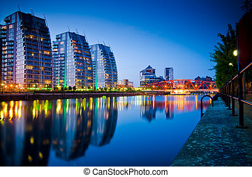 19- three buildings and bridge salf - Modern apartments in...