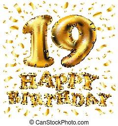 19 års fest Nineteen 3d Vector Clip Art Illustrations. 18 Nineteen 3d clipart  19 års fest