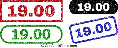 19.00 Rectangle Stamps with Unclean Surface