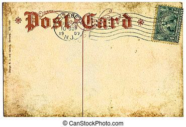 1907, weinlese, postkarte