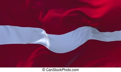191. Latvia Flag Waving in Wind Continuous Seamless Loop...