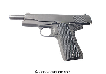 1911 with slide back - 1911 semiautomatic with slide back,...