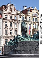 1915, erigido, enero, hus., monumento, era