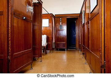 1920, épület, mód, fürdőkád