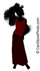 1920 Female Silhouette - 1920\'s female silhouette on a...