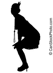 1920, silhouette