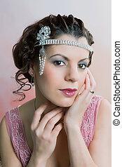 1920s hair and headband