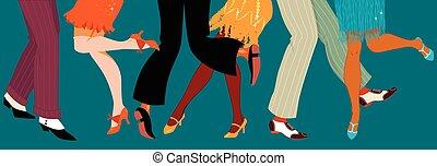 1920s stile, festa