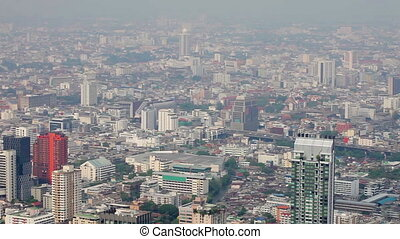 1920x1080 hidef, hdv - Views over tall buildings of the city. Thailand, Bangkok