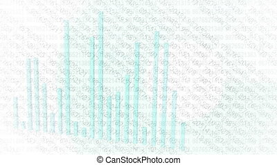 Digital infographics on the screen - abstract motion background