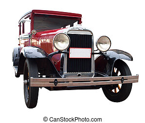 1928 Oldsmobile isolated with clipping path