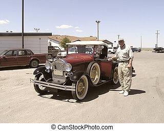 1928, vendange, personne agee, voiture