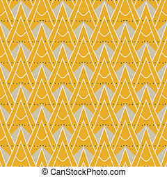 1930 modern geometric pattern with triangles - 1930s...