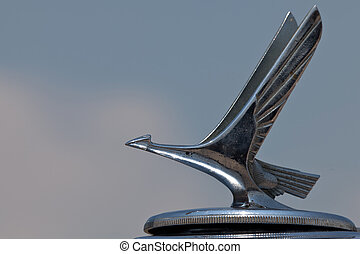 1932 Chrysler hood ornament - Closeup of the 1941 1932...