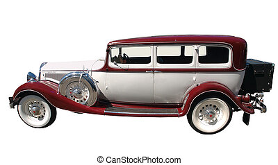 1933 Vintage Car isolated with clipping path