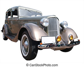 1934 Chrysler Plymouth Deluxe isolated with clipping path
