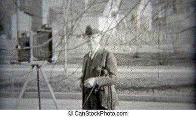 1936: Photographer setting up the