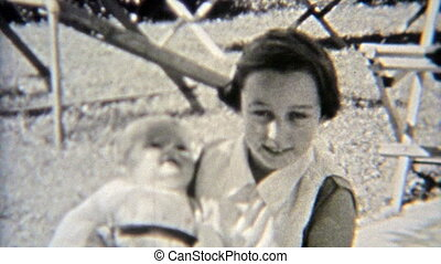 1937: Female schoolmates playing - Original vintage 8mm film...
