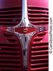 1938 Dodge Truck Grille - beautiful curved nose of a shiny...