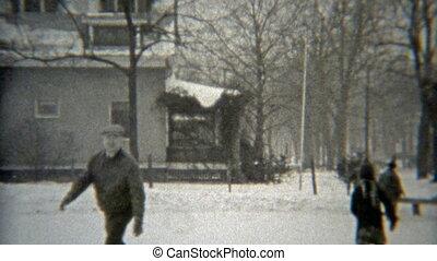 1938: Grandpa showing off ice skating